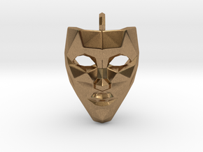 Mask Pendant in Natural Brass