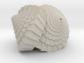 Tri-Cone Lamp in Natural Sandstone