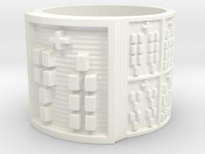OBARAJUANI Ring Size 13.5 in White Processed Versatile Plastic