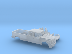 1/87 2017 Ford F-Series Ext Cab Long Bed Kit in Frosted Ultra Detail