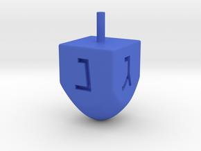 Dreidel  in Blue Processed Versatile Plastic