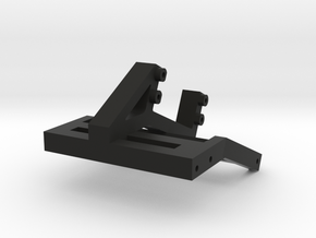 Servo Winch Bracket for SCX10 II in Black Natural Versatile Plastic