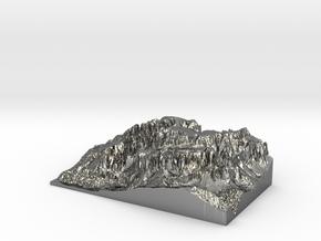 "MyTinyDolomites ""Gruppo Sella"" - Dolomites South M in Premium Silver"