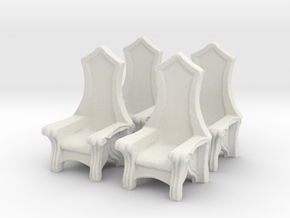 Chair: Elvish: V3 in White Natural Versatile Plastic