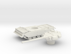 Centurion tank with Dozer (British)  1/87 in White Natural Versatile Plastic