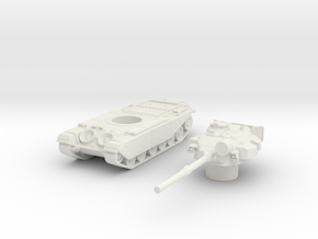 Centurion tank Late (British) 1/144 in White Natural Versatile Plastic
