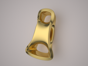 Triple Cube Gold 098 in 14K Yellow Gold