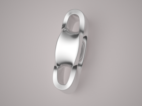 Triple Cube Silver 002 in Polished Silver