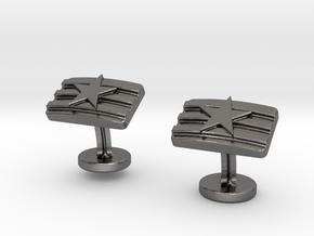 STARS & STRIPES in Polished Nickel Steel