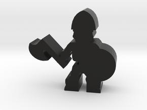 Game Piece, Skeleton Soldier, Axe in Black Natural Versatile Plastic