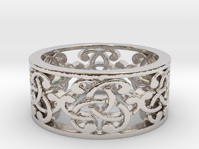 Celtic Knot Ring in Rhodium Plated Brass