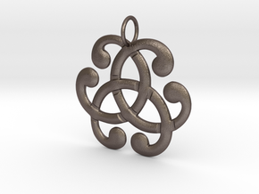Health Harmony Therapy Celtic Knot in Polished Bronzed Silver Steel: Medium