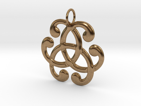Health Harmony Therapy Celtic Knot in Natural Brass: Medium