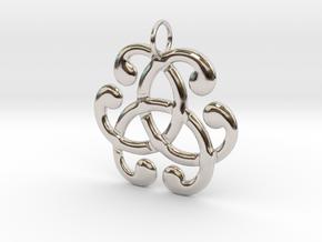 Health Harmony Therapy Celtic Knot in Platinum: Medium