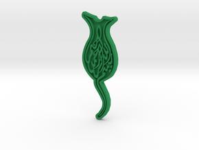 Rose2 in Green Processed Versatile Plastic