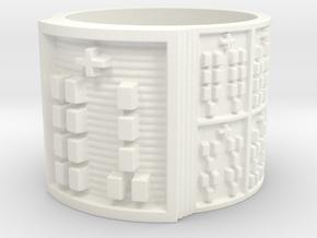 OGUNDAYEKUN Size 13.5 in White Processed Versatile Plastic