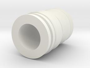 Drip Tip in White Natural Versatile Plastic