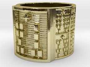 OGUNDATRUPON Ring Size 11-13 in 18k Gold Plated: 12 / 66.5