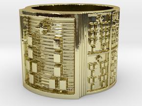 OGUNDAKETE Ring Size 11-13 in 18k Gold Plated: 12 / 66.5