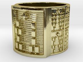 OGUNDASHE Ring Size 11-13 in 18k Gold Plated: 12 / 66.5