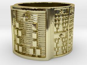 OGUNDASHE Ring Size 13.5 in 18k Gold Plated Brass