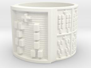 OGUNDAFUN Ring Size 14 in White Processed Versatile Plastic