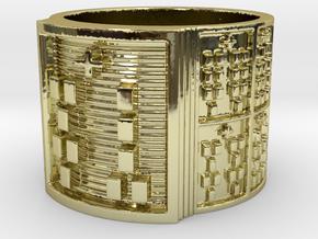 OGUNDAFUN Ring Size 14 in 18k Gold Plated Brass