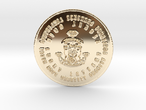 The Fat Cat Lotto Syndicate Coin of 7 Virtues in 14K Yellow Gold