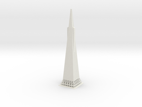 "15"" Transamerica Pyramid in White Natural Versatile Plastic"