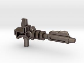 Prime's Laser Gun, 5mm in Polished Bronzed Silver Steel: Medium