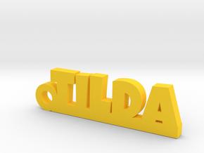 TILDA Keychain Lucky in Yellow Processed Versatile Plastic