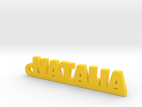 NATALIA Keychain Lucky in Yellow Strong & Flexible Polished