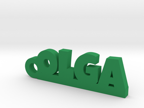 OLGA Keychain Lucky in Green Strong & Flexible Polished