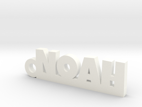 NOAH Keychain Lucky in White Processed Versatile Plastic