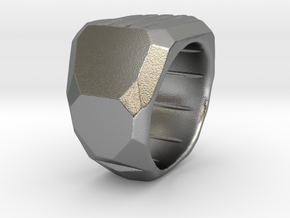Sphynx Ring Alpha in Natural Silver: 7.5 / 55.5