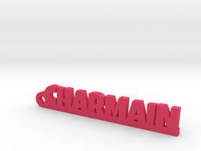 CHARMAIN Keychain Lucky in Pink Processed Versatile Plastic