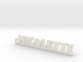 NICOLETTE Keychain Lucky in Smooth Fine Detail Plastic