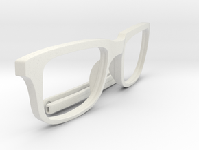 Optimus Print (Frame Front + Temple Tips) in White Natural Versatile Plastic