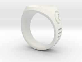 LMNTL Water Ring (size 12) in White Natural Versatile Plastic