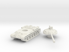 IS-3 Tank (Russian) 1/87 in White Natural Versatile Plastic