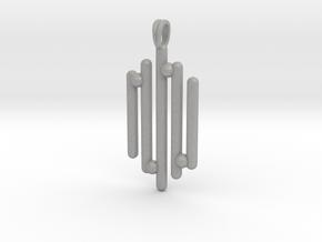 Eclectic Pendant Symbolic Jewelry Pendant in Aluminum