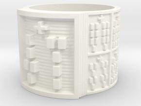 OSARETE Ring Size 13.5 in White Processed Versatile Plastic