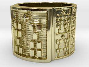 IKATRUPON Ring Size 14 in 18k Gold Plated Brass