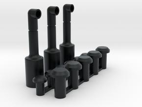 Dakonderdeeltjes Blokpost Baarn in Black Hi-Def Acrylate