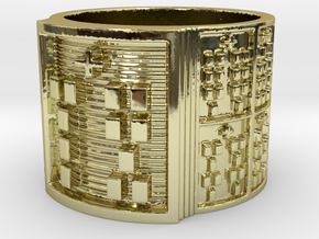 OTRUPONSA Ring Size 14 in 18k Gold Plated Brass