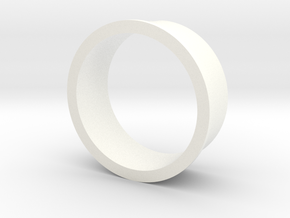 Single Channel Ring in White Processed Versatile Plastic
