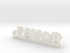 FAVOR Keychain Lucky in White Processed Versatile Plastic