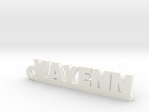 VAYENN Keychain Lucky in White Strong & Flexible Polished