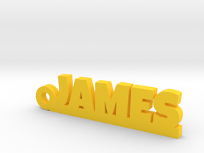 JAMES Keychain Lucky in 14k Gold Plated Brass