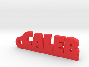 CALEB Keychain Lucky in Red Processed Versatile Plastic